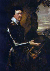 Thomas Wentworth, 1st Earl of Cleveland, Royalist cavalry commander at the Battle of Cropredy Bridge on 29th June 1644 in the English Civil War