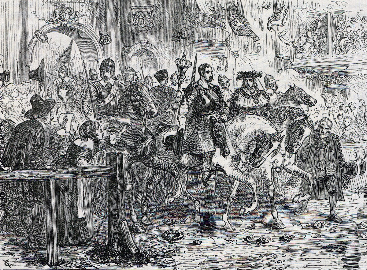 Earl of Essex enters London with his Parliamentary army after the First Battle of Newbury on 20th September 1643 in the English Civil War