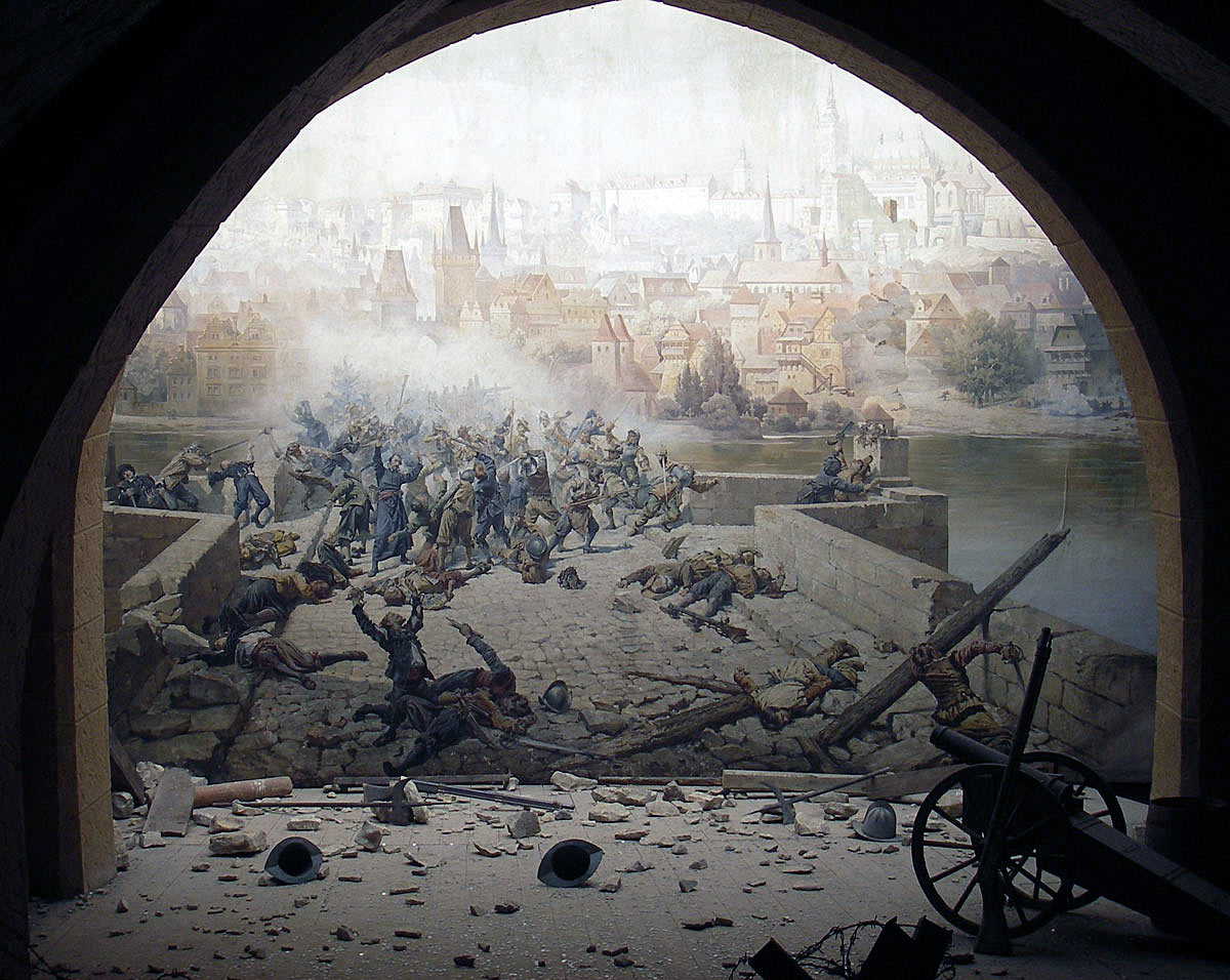 Storming of a gateway at the time of the English Civil War: Storming of Bristol on 26th July 1643