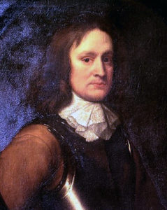 Colonel John Hampden, second in command of the Earl of Essex's Parliamentary army, mortally wounded at the Battle of Chalgrove 18th June 1643 in the English Civil War