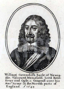 William Cavendish, Earl of Newcastle, Royalist commander at the Battle of Adwalton Moor 30th June 1643 during the English Civil War: engraving by Wencelaus Hollar
