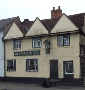 Old Nags Head in Thame used by the Parliamentary army as a quarter: Battle of Chalgrove 18th June 1643 in the English Civil War