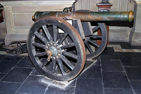 French gun captured at the Battle of Plassey on 23rd June 1757 in the Anglo-French Wars in India