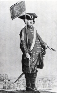 Dragoon George Daraugh of Sir Robert Rich's Dragoons: Battle of Dettingen 16th June 1743 in the War of the Austrian Succession