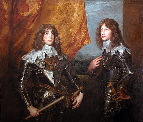 Prince Rupert (on the right) with his brother, Prince Karl Louis, the Elector Palatine: picture by Sir Anthony van Dyck