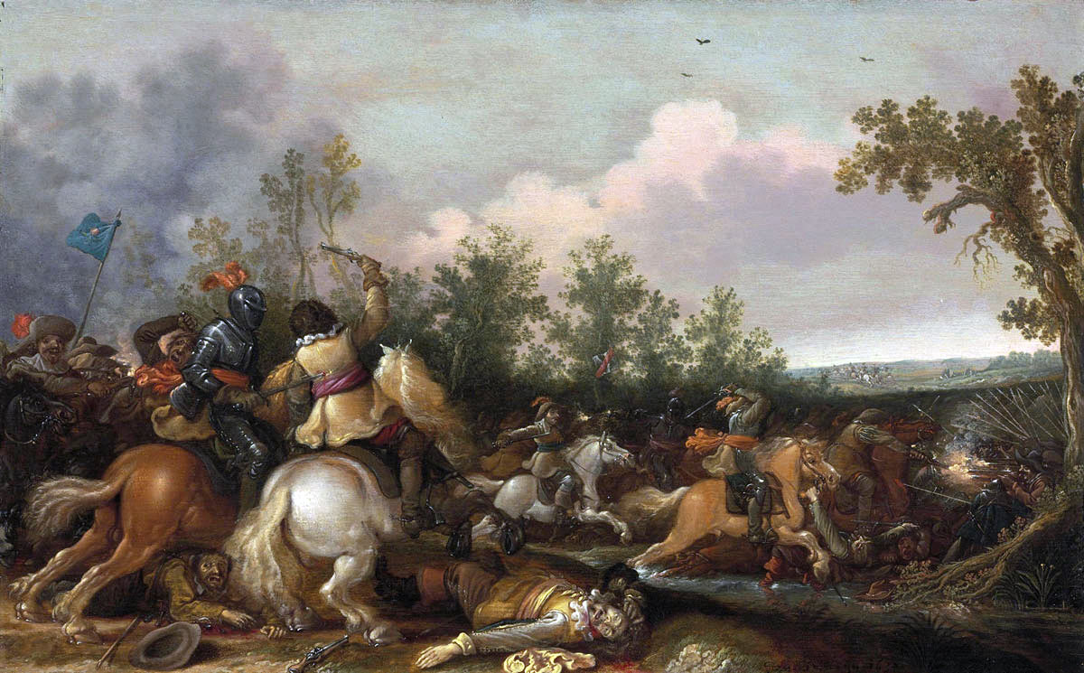 Cavalry Action at the time of the English Civil War: Battle of Marston Moor 2nd July 1644 in the English Civil War