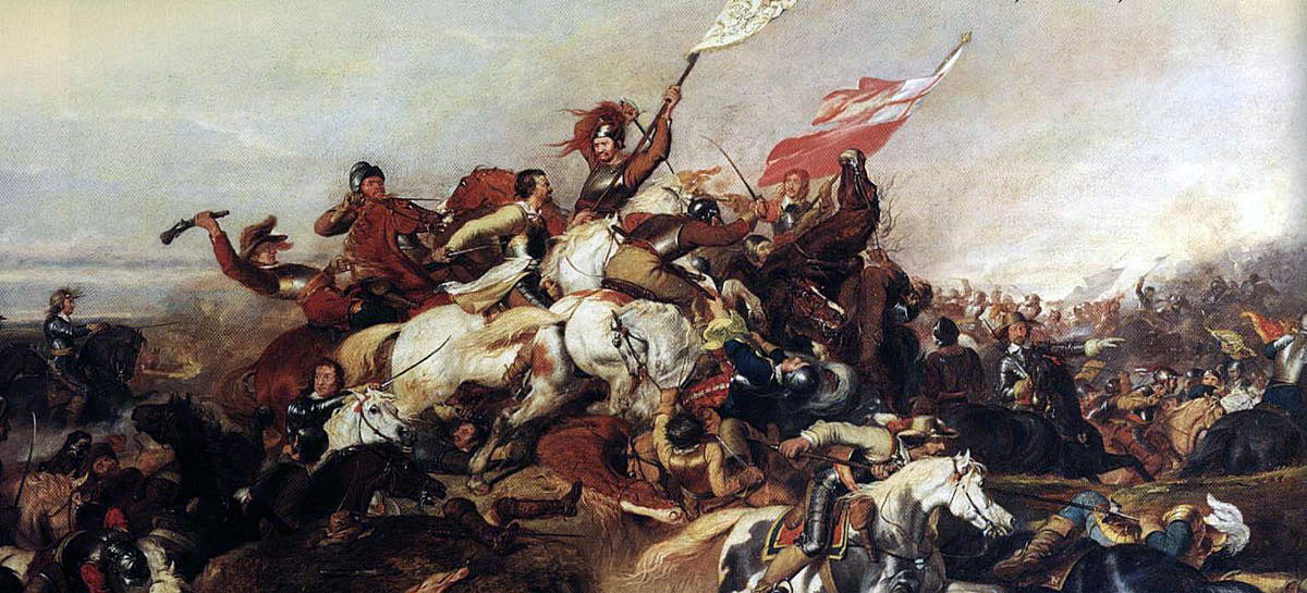 Battle of Marston Moor on 2nd July 1644 in the English Civil War: picture by Abraham Cooper