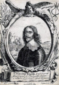 Sir William Waller, Parliamentary commander at the Battle of Cropredy Bridge on 29th June 1644 in the English Civil War: engraving by Cornelius Jansen