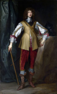 Prince Rupert Royalist Commander at the Battle of Chalgrove 18th June 1643 in the English Civil War: picture by Anthony van Dyck