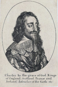 King Charles I: Royalist Commander at the Battle of Lostwithiel 11th August to 2nd September 1644 in the English Civil War: engraving by Wenceslaus Hollar