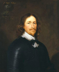 Sir William Waller, the Parliamentary Commander at the Battle of Lansdown Hill on 5th July 1643: picture by Cornelius Johnson in the English Civil War