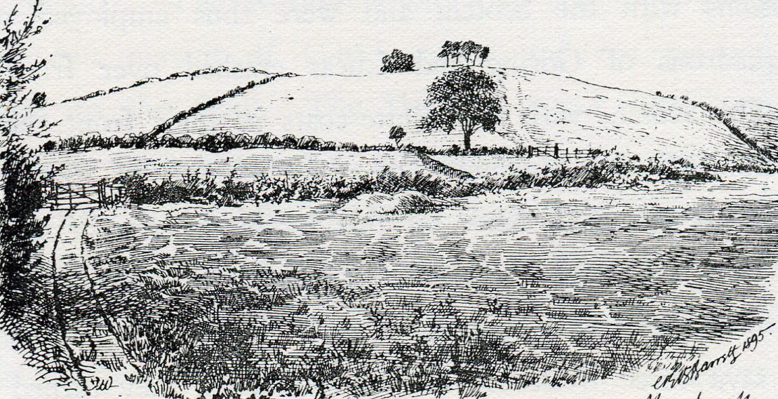 Marston Moor, looking south from the Royalist position towards the Parliamentary Scots position at the Battle of Marston Moor on 2nd July 1644 in the English Civil War: drawing by C.R.B. BarrettMarston Moor, looking south from the Royalist position towards the Parliamentary Scots position at the Battle of Marston Moor on 2nd July 1644 in the English Civil War: drawing by C.R.B. Barrett