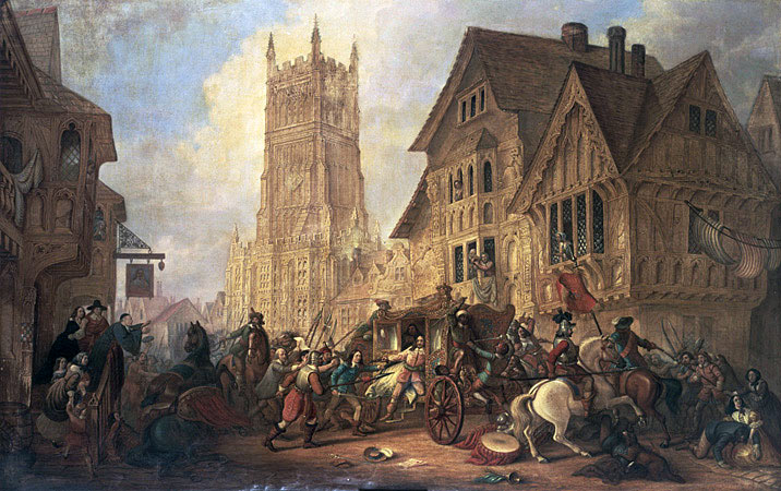 City of York after The Battle of Marston Moor on 2nd July 1644 in the English Civil War