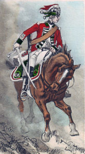 15th Light Dragoon at the Battle of Emsdorf on 14th July 1760 in the Seven Years War
