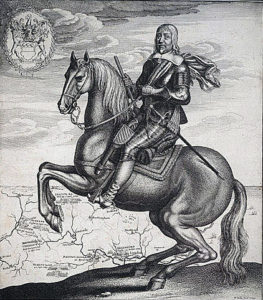 Robert Dereux, 3rd Earl of Essex, Parliamentary Commander at the Battle of Lostwithiel 11th August to 2nd September 1644 in the English Civil War: engraving by Wenceslaus Hollar