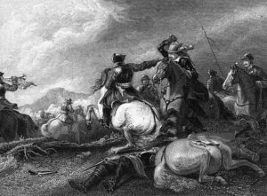 Battle of Marston Moor on 2nd July 1644 in the English Civil War