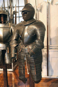 Cuirassier's armour of the English Civil War period