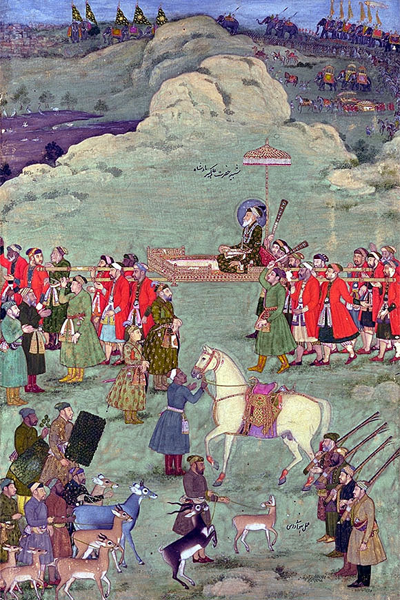 Emperor Aurangzeb accompanied by Indian troops: Battle of Kaveripauk on 23rd February 1752 in the Anglo-French Wars in India (Second Carnatic War)