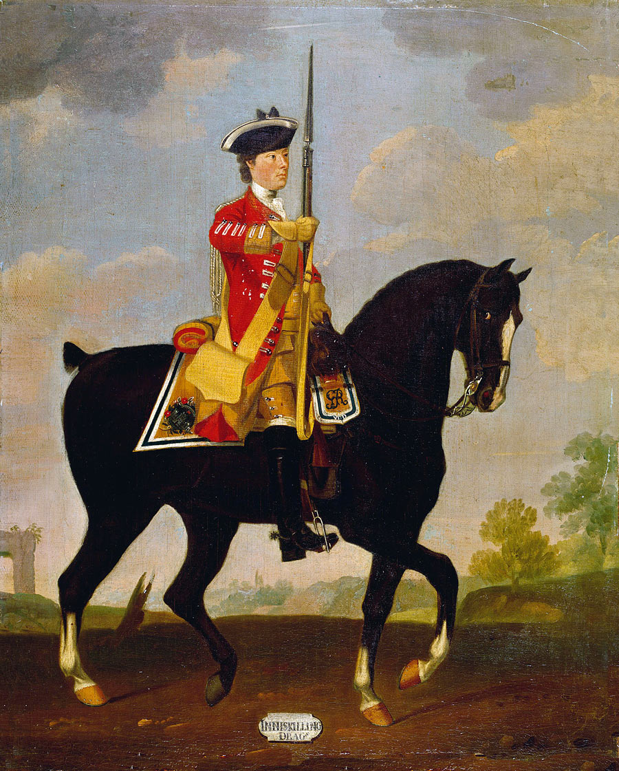 6th Inniskilling Dragoons: Battle of Warburg on 31st July 1760 during the Seven Years War: picture by David Morier