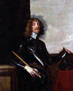 Sir Edmund Verney, Knight Marshal to King Charles I: Sir Edmund carried the Royal Standard at the Battle of Edgehill, where he was killed: picture by Sir Anthony van Dyck