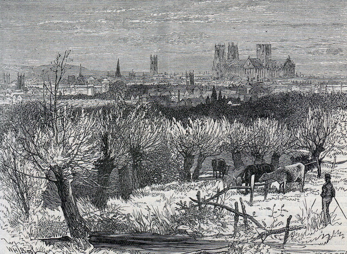 View of the City of York: Battle of Marston Moor 2nd July 1644 in the English Civil War