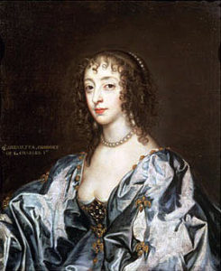 Henrietta Maria Queen of England: picture by Sir Anthony van Dyck