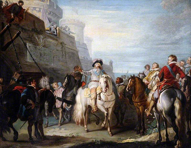 King Charles I refused entry to Beverley Gate Hull by Sir John Hotham on 29th April 1642 in the English Civil War