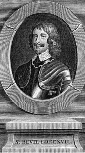 Sir Bevil Grenville, Royalist commander of an attacking columns at the Battle of Stratton on 16th May 1643 during the English Civil War