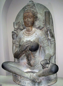 Yogini Goddess from Kaveripauk: Battle of Kaveripauk on 23rd February 1752 in the Anglo-French Wars in India (Second Carnatic War)