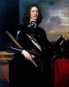 Sir Arthur Hesilrige whose cuirassiers were routed by Lord Wilmot's Royalist brigade of horse at the Battle of Roundway Down on 13th July 1643 during the English Civil War