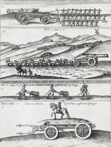 Siege artillery of the mid 17th Century: Battle of Edgehill 23rd October 1642 in the English Civil War