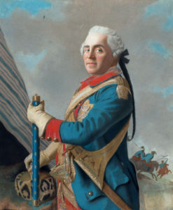 Marshal Maurice de Saxe victor of the Battle of Rocoux 30th September 1746 in the War of the Austrian Succession: picture by Liotard