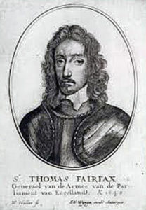 Sir Thomas Fairfax, known as 'Black Tom', commander of the Parliamentary right wing at the Battle of Marston Moor on 2nd July 1644 in the English Civil War