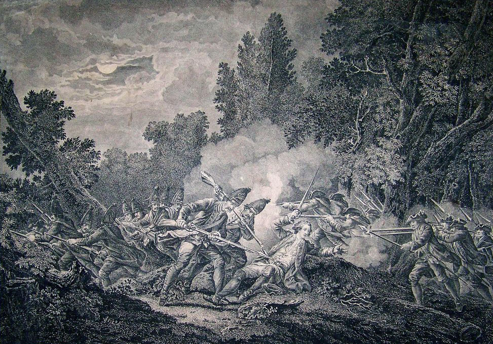 Battle of Kloster Kamp on 15th October 1760 in the Seven Years War