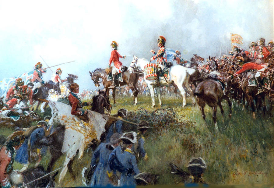 15th Light Dragoons at the Battle of Emsdorf on 14th July 1760 in the Seven Years War