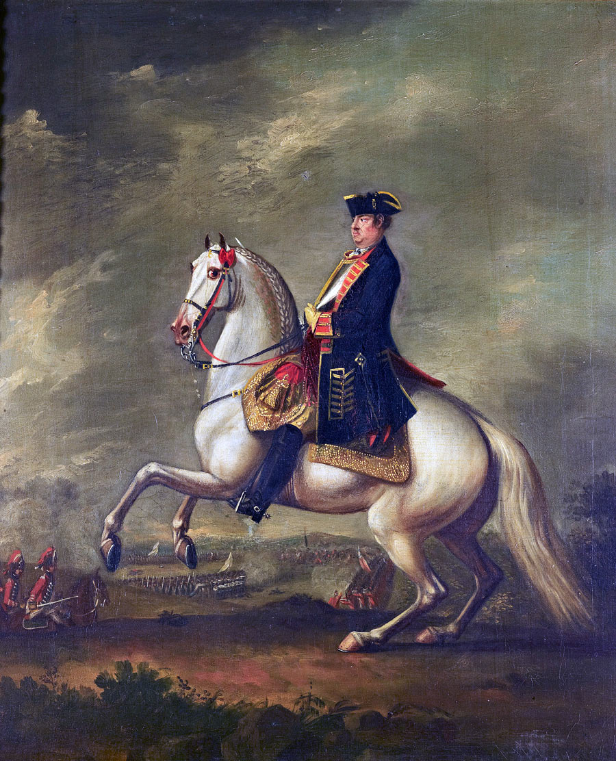 John Manners, Marquis of Granby at the Battle of Warburg on 31st July 1760 during the Seven Years War