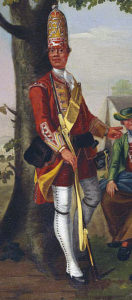 Grenadier of 20th Foot: Battle of Minden on 1st August 1759 in the Seven Years War: David Morier