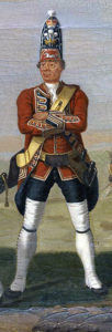 Grenadier of 23rd Royal Welch Fusiliers: Battle of Minden on 1st August 1759 in the Seven Years War: David Morier