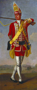 Grenadier of 37th Foot: Battle of Minden on 1st August 1759 in the Seven Years War: David Morier