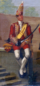 Grenadier of 25th Foot: Battle of Minden on 1st August 1759 in the Seven Years War: David Morier