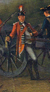Officer of the 15th Light Dragoons: Battle of Emsdorf on 14th July 1760 in the Seven Years War