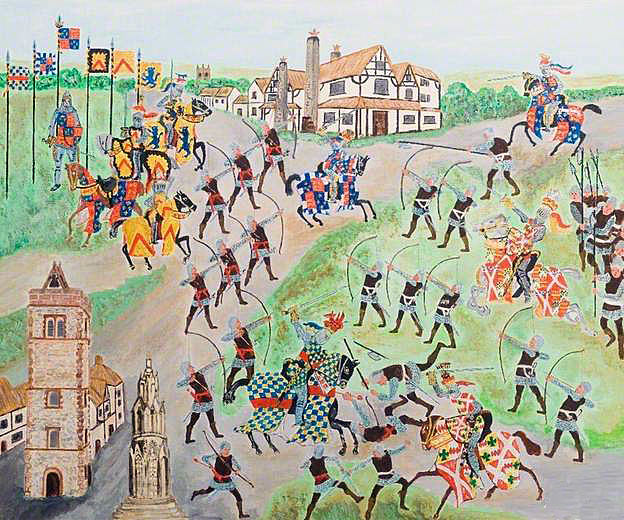 First Battle of St Albans, fought on 22nd May 1455 in the Wars of the Roses