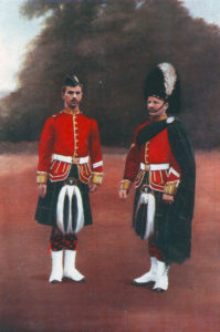 Gordon Highlanders in 1899. 2nd Gordons played a key role in the flanking infantry attack at the Battle of Elandslaagte on 21st October 1899 in the Great Boer War