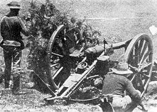 Natal Field Artillery in the Boer War: Battle of Elandslaagte on 21st October 1899 in the Great Boer War