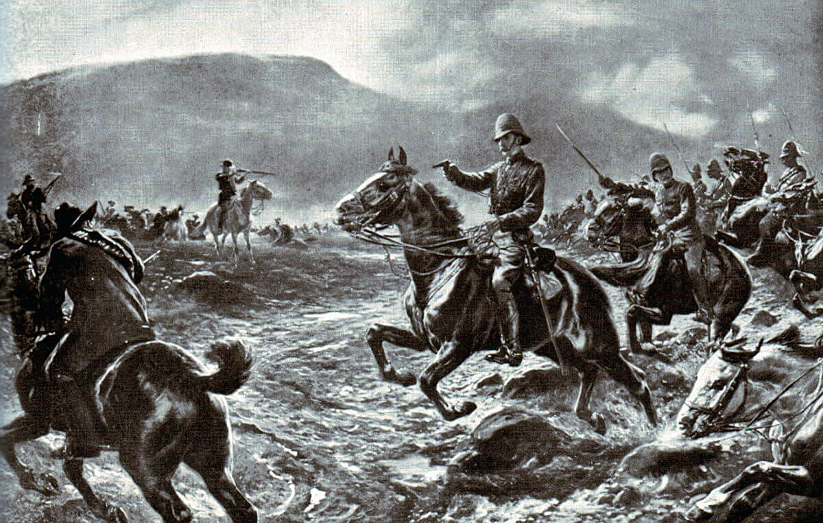 5th Dragoon Guards at the Battle of Elandslaagte on 21st October 1899 in the Great Boer War
