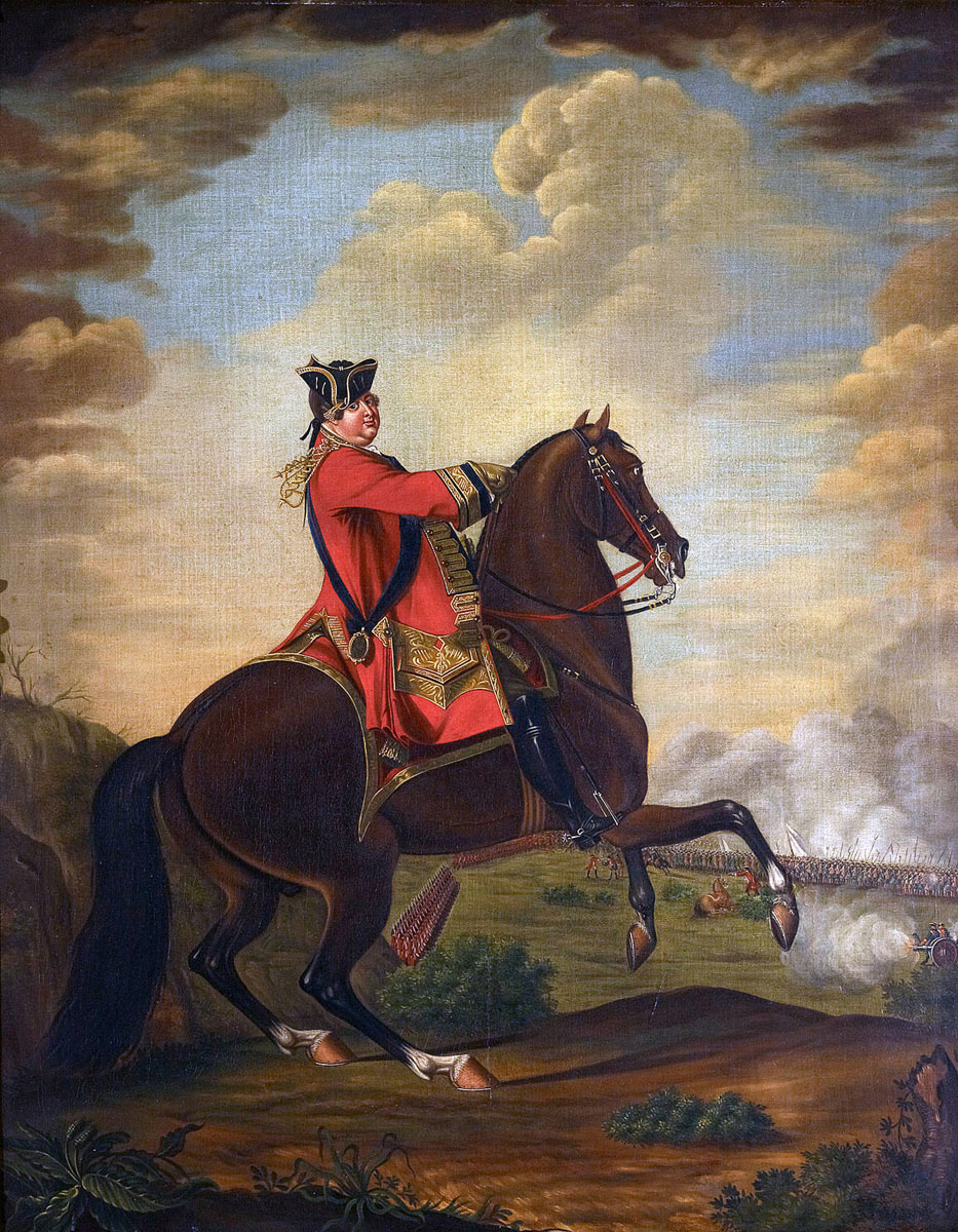 Duke of Cumberland at the Battle of Lauffeldt 21st June 1747 in the War of the Austrian Succession
