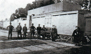 British armoured train in Natal: Battle of Elandslaagte fought on 21st October 1899 in the Great Boer War