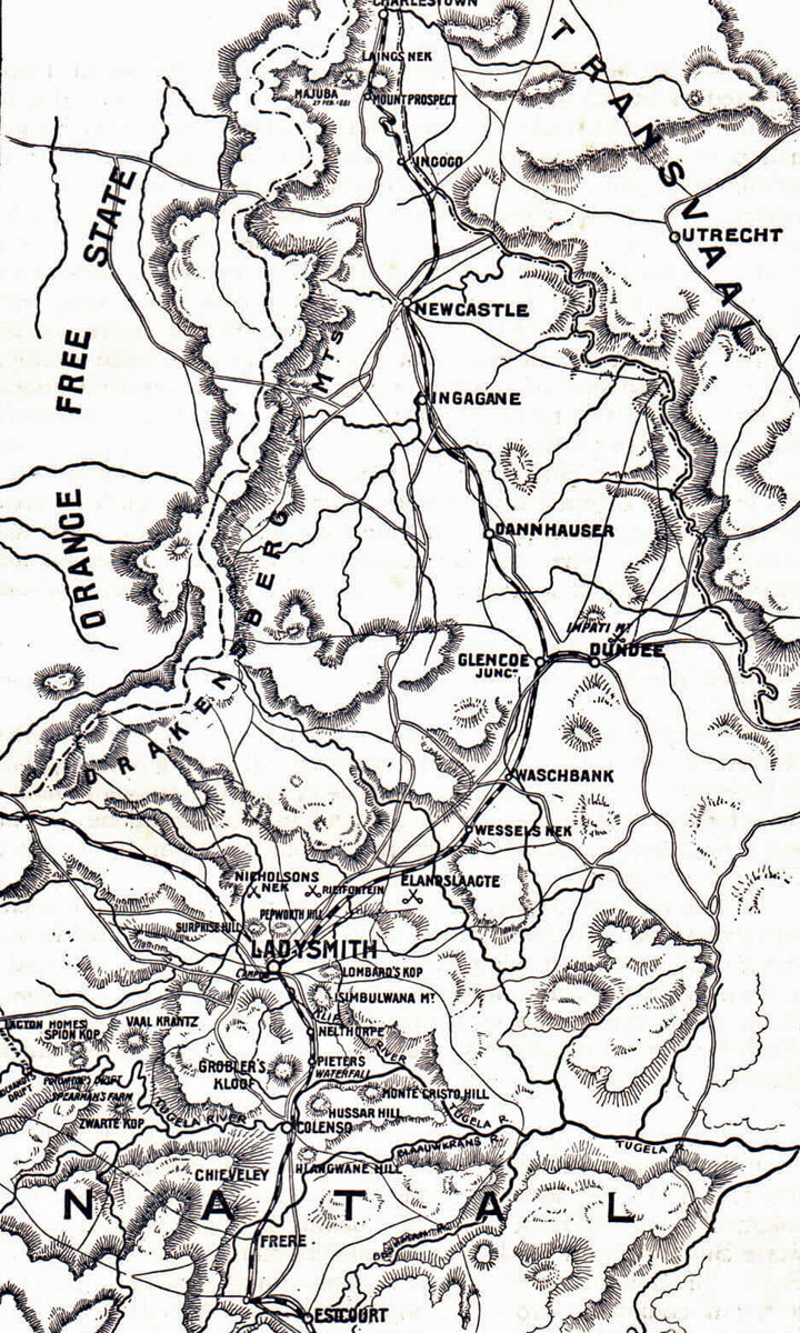 Map of Northern Natal in 1899