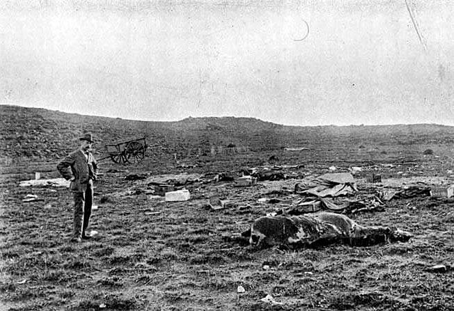 Elandslaagte battlefield after the battle fought on 21st October l899 in the Great Boer War