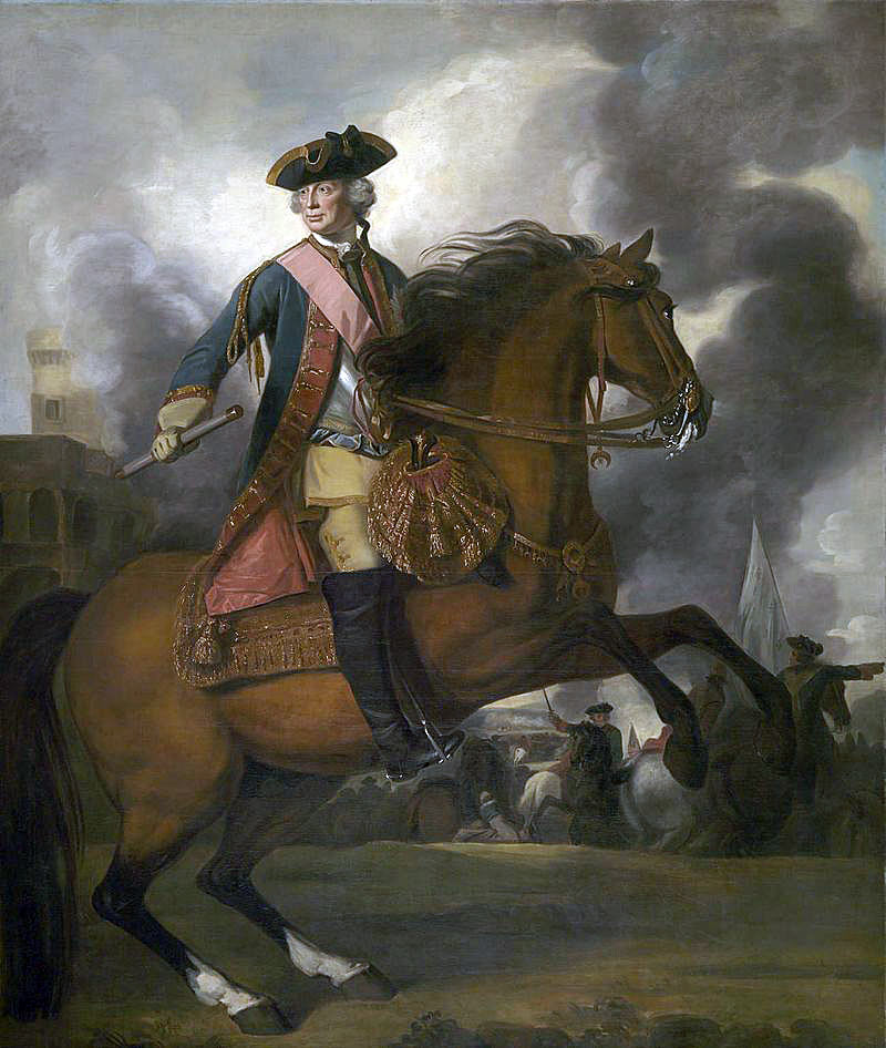 Sir John Ligonier: Battle of Lauffeldt fought on 21st June 1747, in the War of the Austrian Succession: picture by Joshua Reynolds